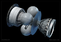 The Daedalus Starship - updated, without fuel tanks.