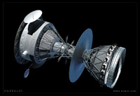 The Daedalus Starship update - 2nd Stage, showing deployed antennae.